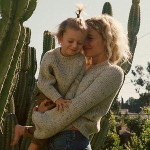 Doen Lulu Sweater in Speckled Oatmeal, Size Xs